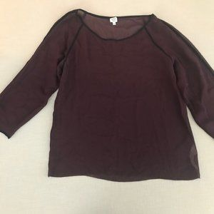 Wilfred Maroon Blouse